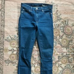 Gap high waisted 1969 cropped ankle jeans